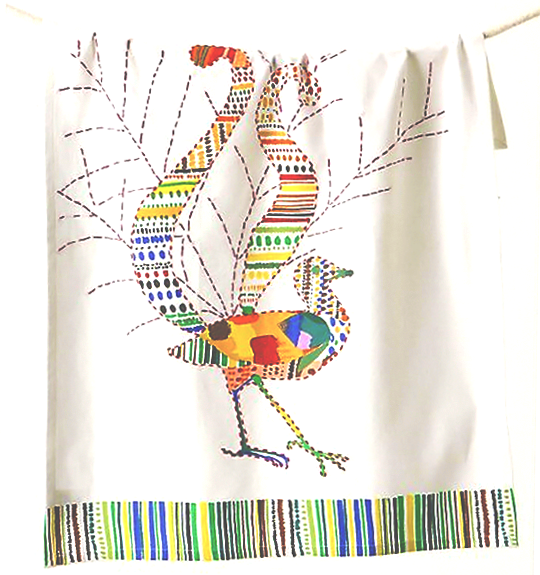 bird dishtowel