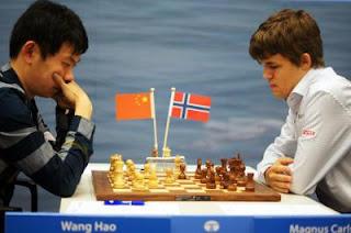Échecs : Wang Hao 1/2 Magnus Carlsen ronde 11 - Photo © Tata Steel