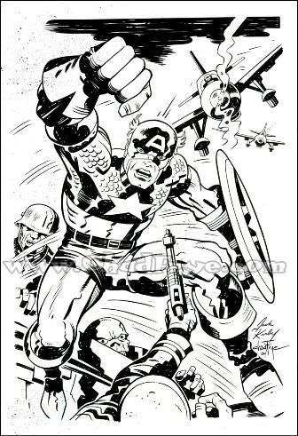 a desenhar Capitão America colorir