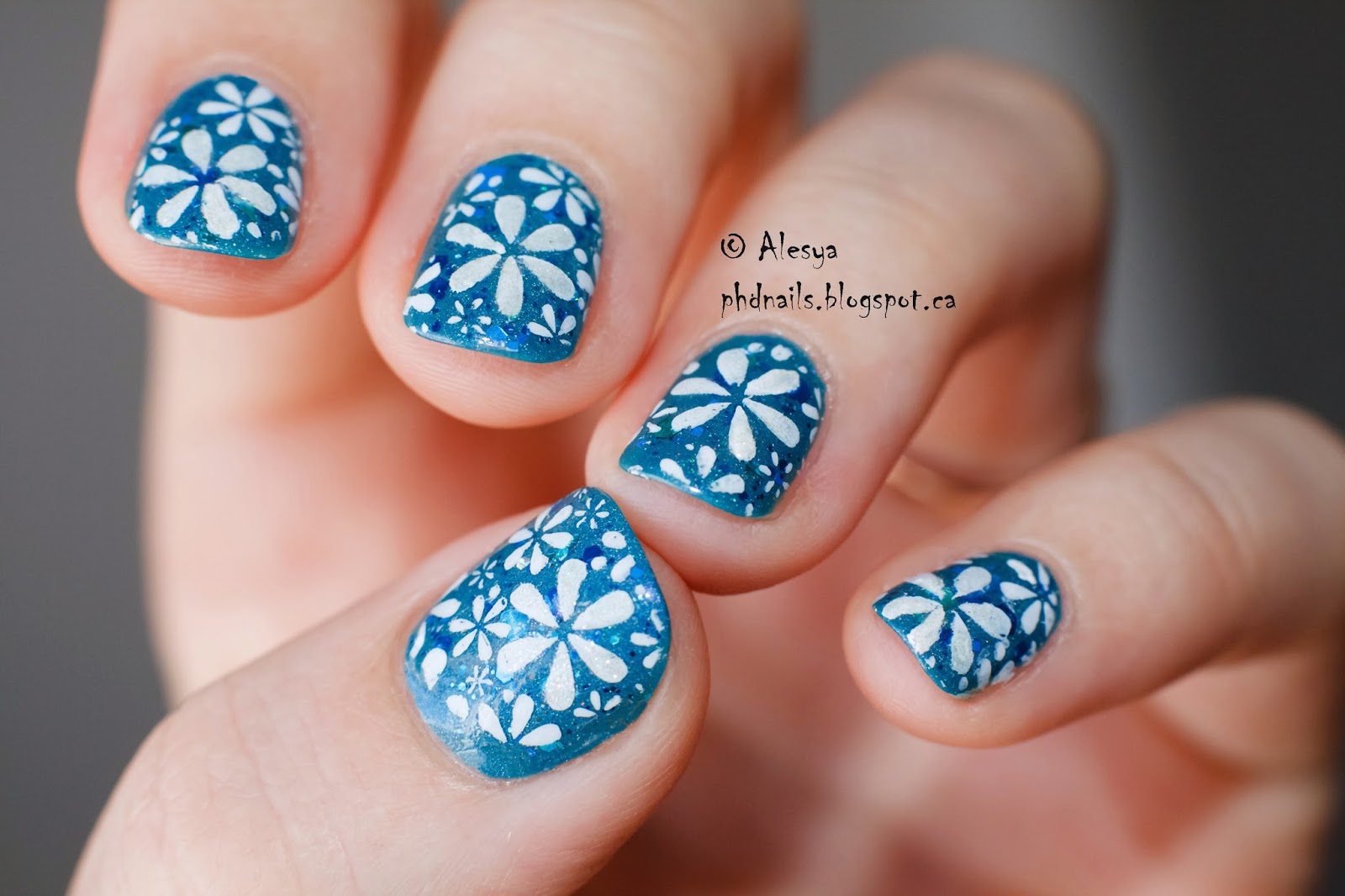 PhD nails: Spring flowers nail art with LaLa land by