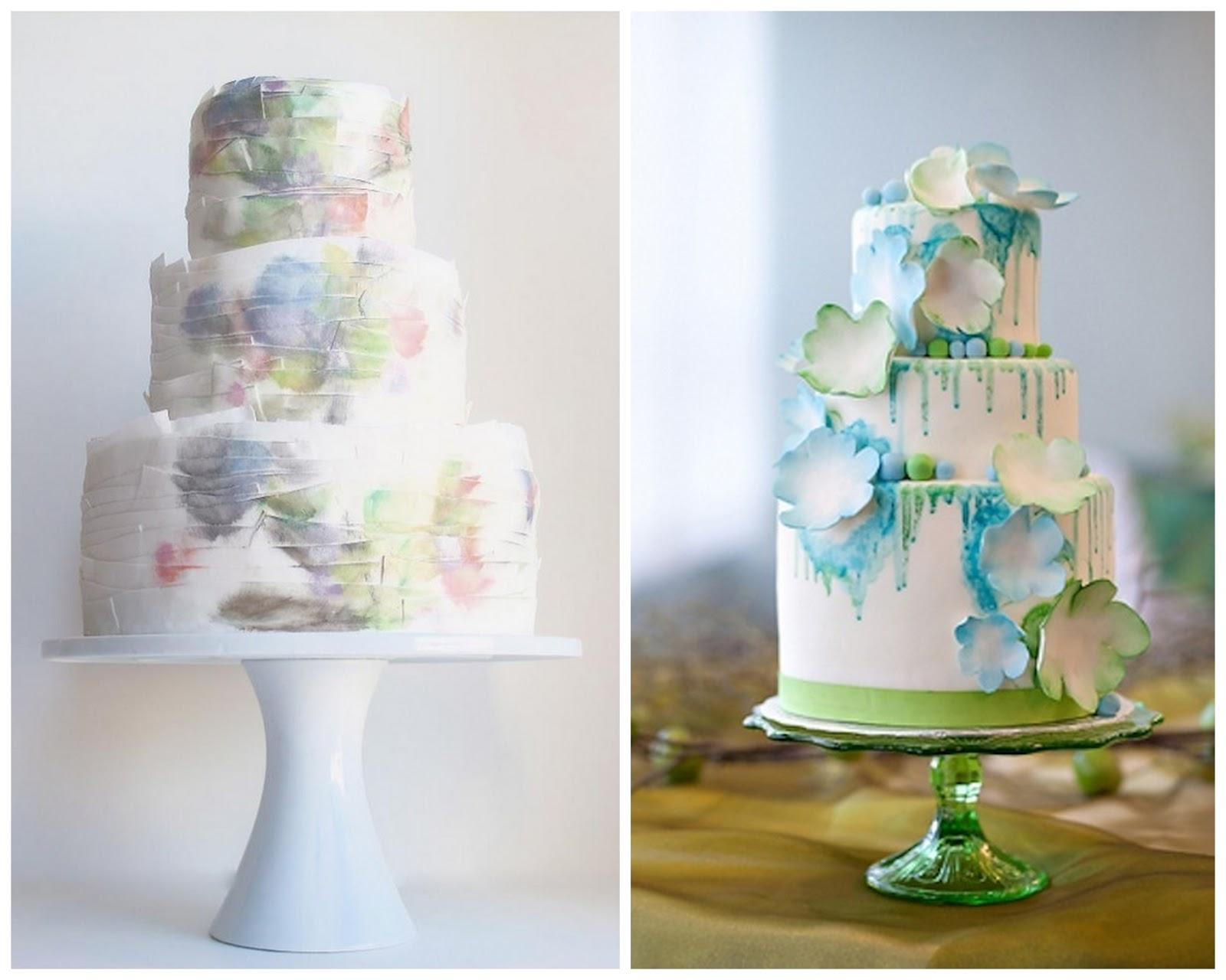 Свадебный торт с акварельной росписью. Рецепты и идеи 64