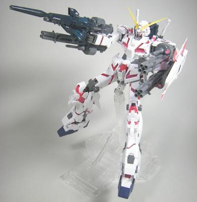 MG 1/100 Gundam Unicorn with Beam Gatling Gun set