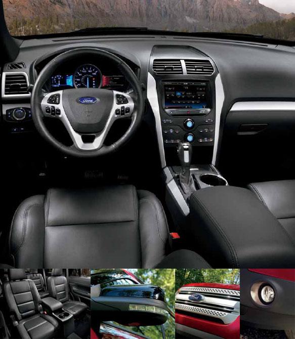 Ford Explorer Dark Earth Gray Interior: Ford: 2013 Ford Explorer XLT