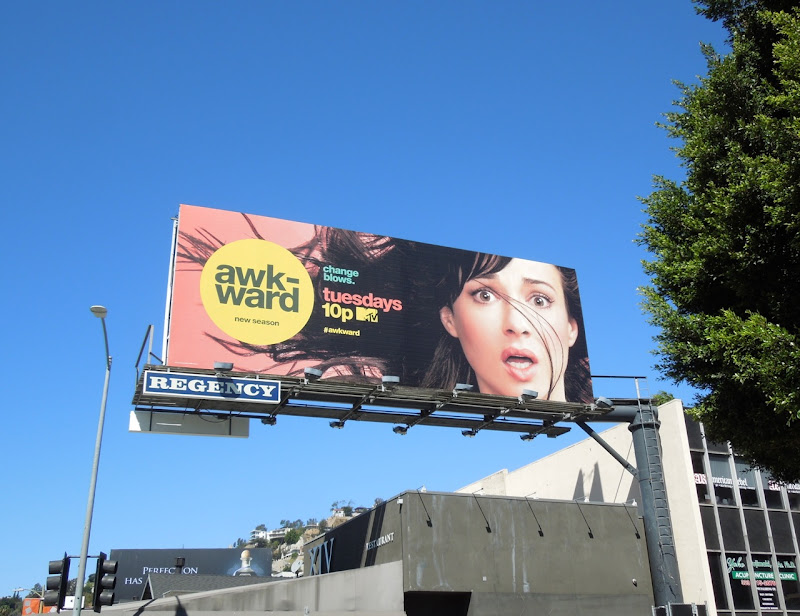Awkward season 3 MTV billboard
