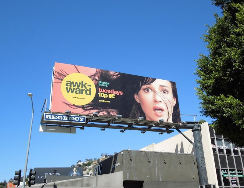 Awkward season 3 MTV billboard