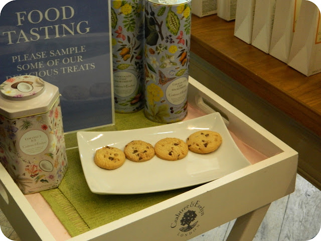 food tasting at crabtree & evelyn cardiff