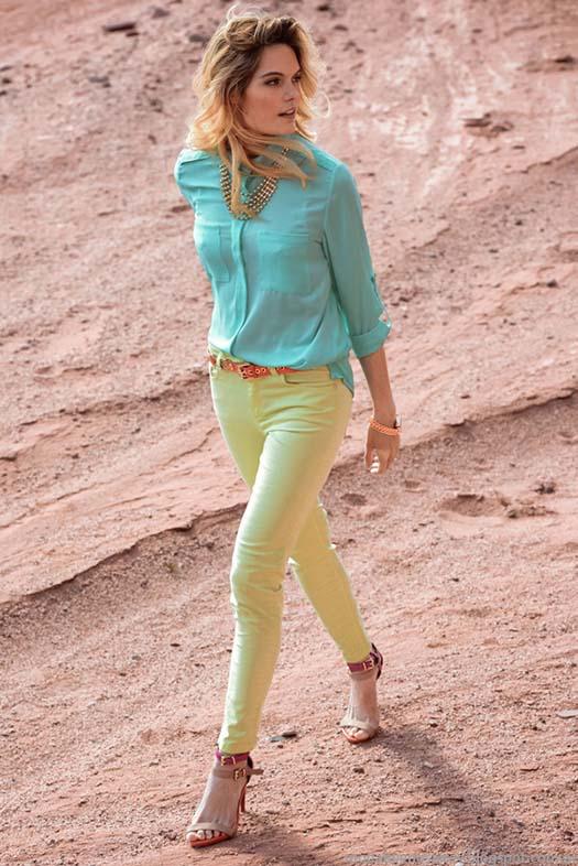 Moda 2015. Markova primavera verano 2015 pantalones y blusas.