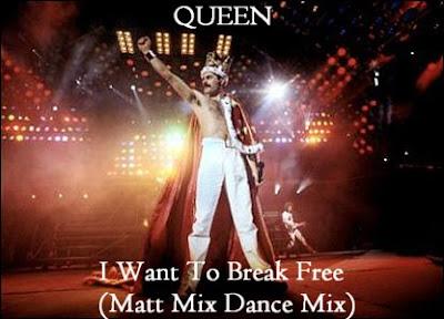 QUEEN \'I Want To Break Free\' (Matt Mix Dance Mix) UNRELEASED DJ PROMO ONLY Hi-NRG MIX!  new!