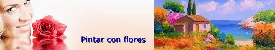 Pintar con flores