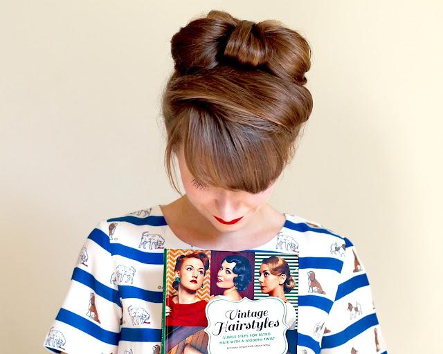 Cute vintage style hair bow