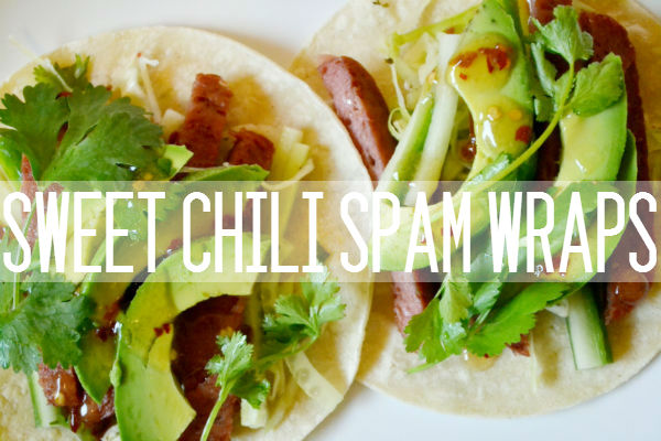spam, recipe, sweet chili, cooking, easy, dinner