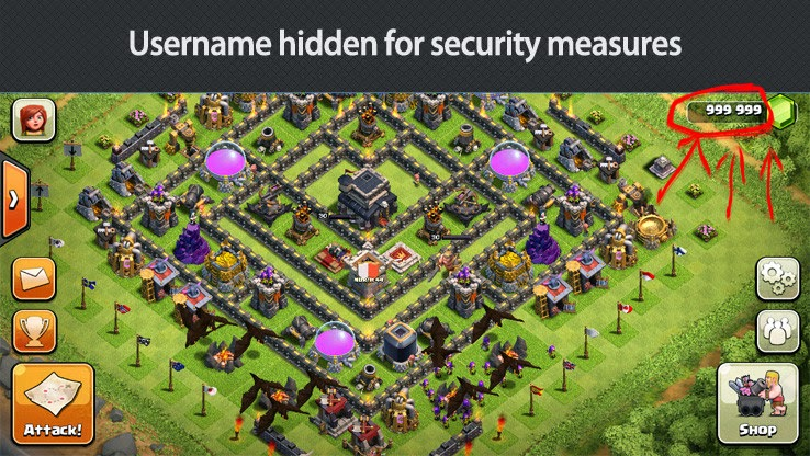 how to change password on clash of clans