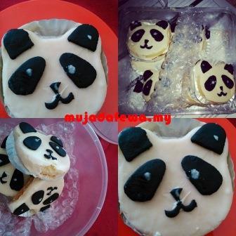 panda cookies, biskut homemade, biskut comel, biskut sedap, biskut panda