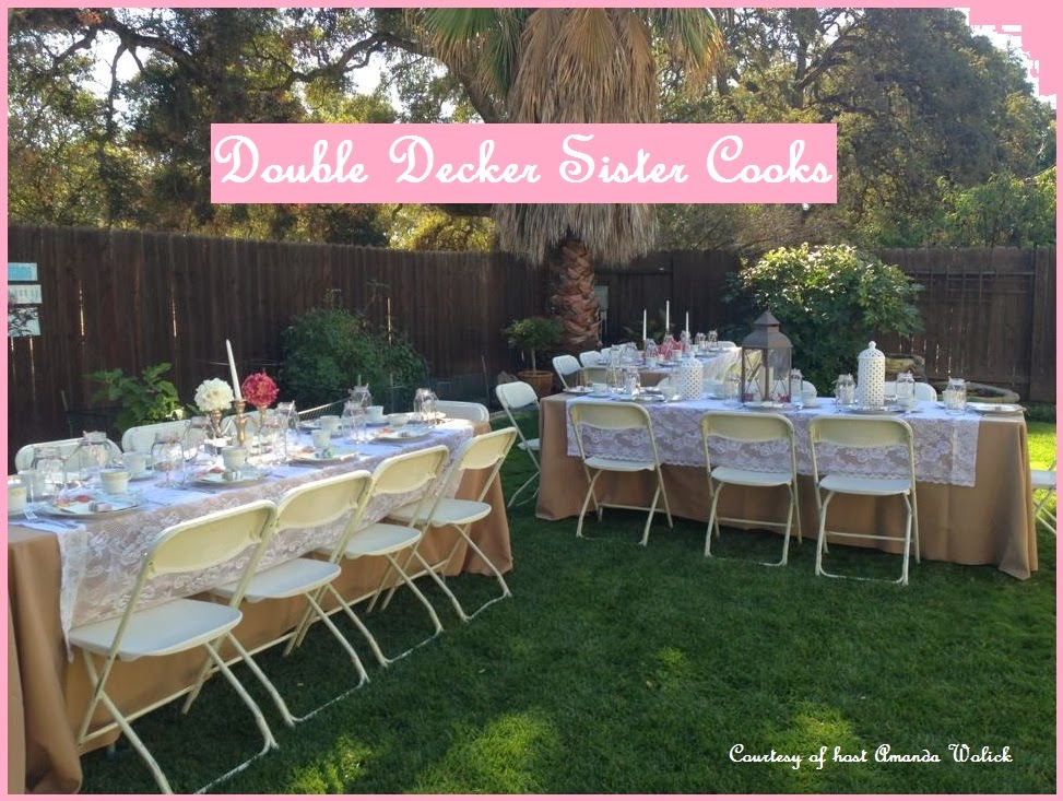 Double decker sister cooks party baby shower ideas for Home decorations for baby shower