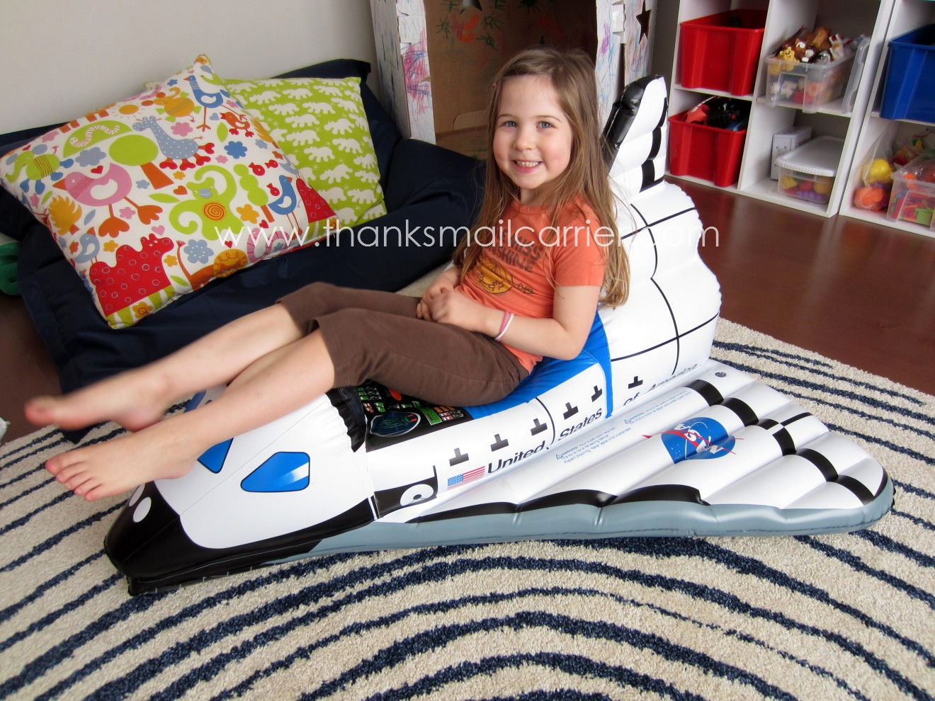 thanks mail carrier aeromax jr space explorer inflatable space