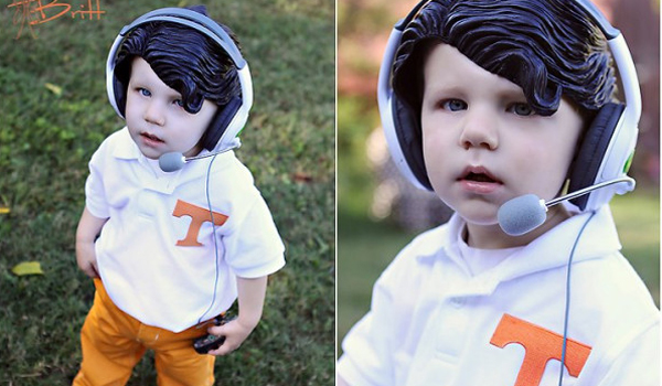 Halloween costume of the Year (so far): A little Vols fan as Derek Dooley.