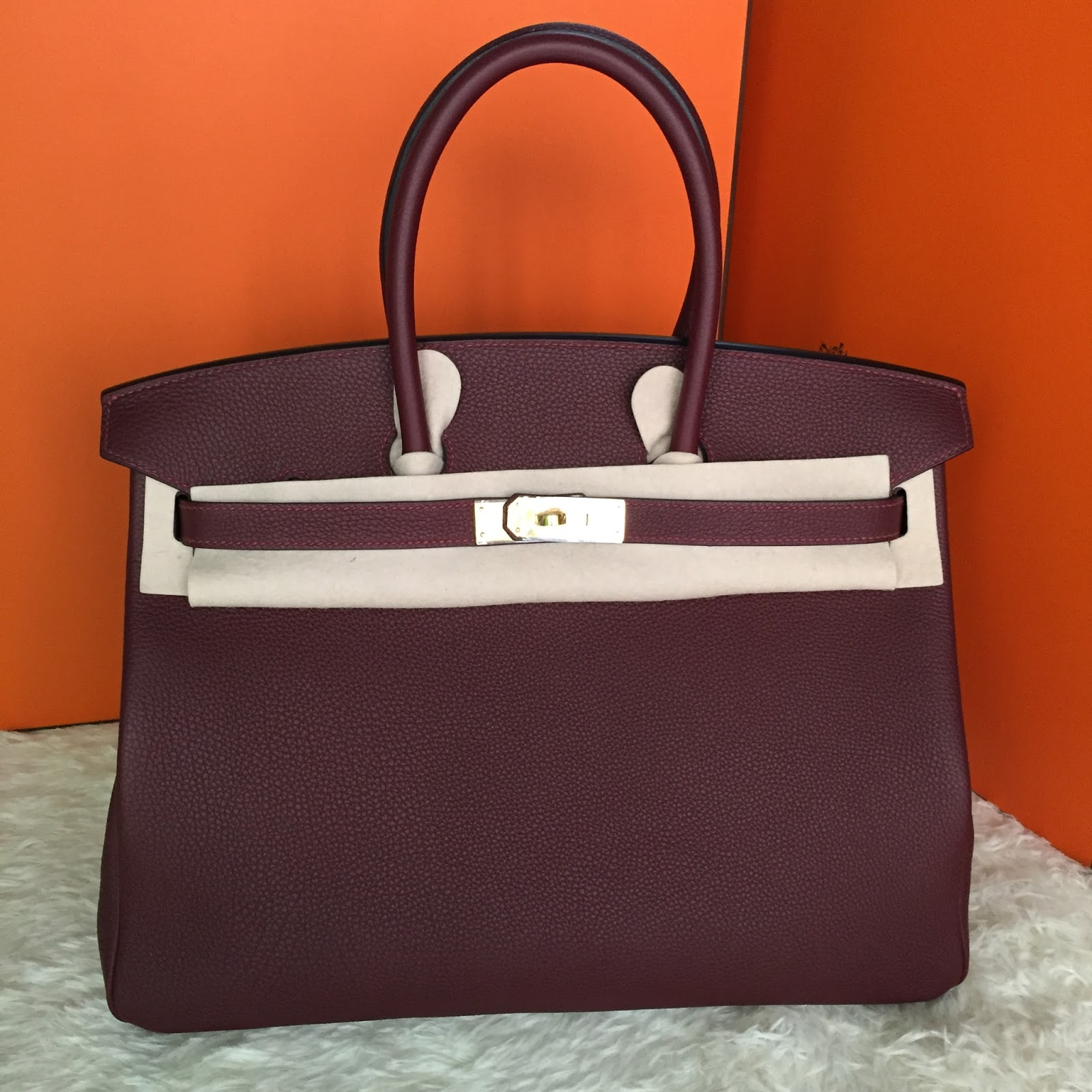 26aac39b8f Pre shipment Photos of Hand Stitched Hermes Birkin 35cm Bag Rouge H Togo  Leather gold hardware