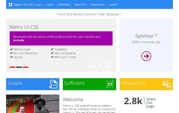 Metro UI CSS Library