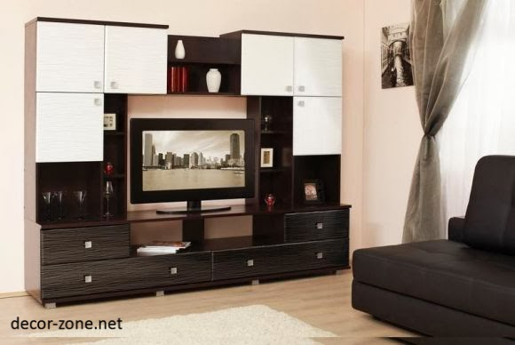 Stylish tv wall units for living room in modern style for Wall units for living room