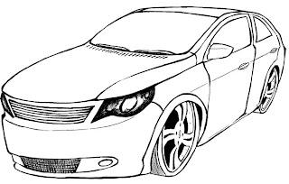 Desenhos Preto e Branco honda civic, gol g5, suspençao hidralica para Colorir