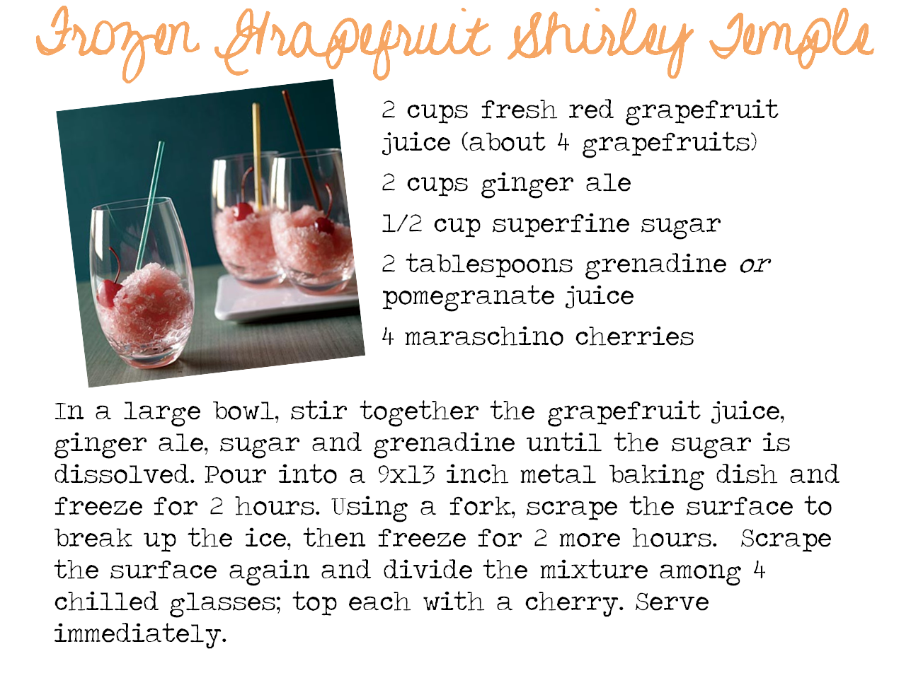 how to make a shirley temple recipe