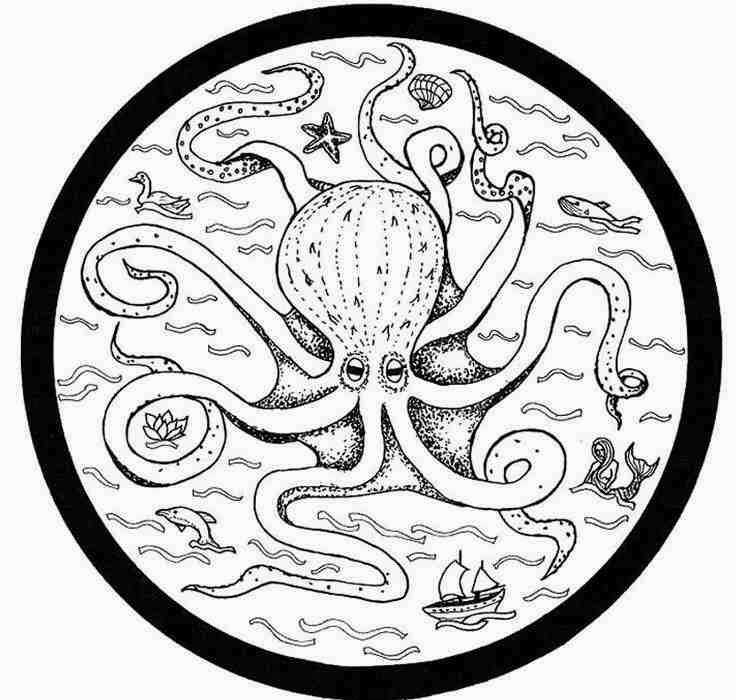 countries european octopus mandala coloring pages