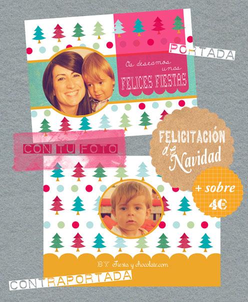 tarjeta felicitación Navidad by Fiesta y chocolate