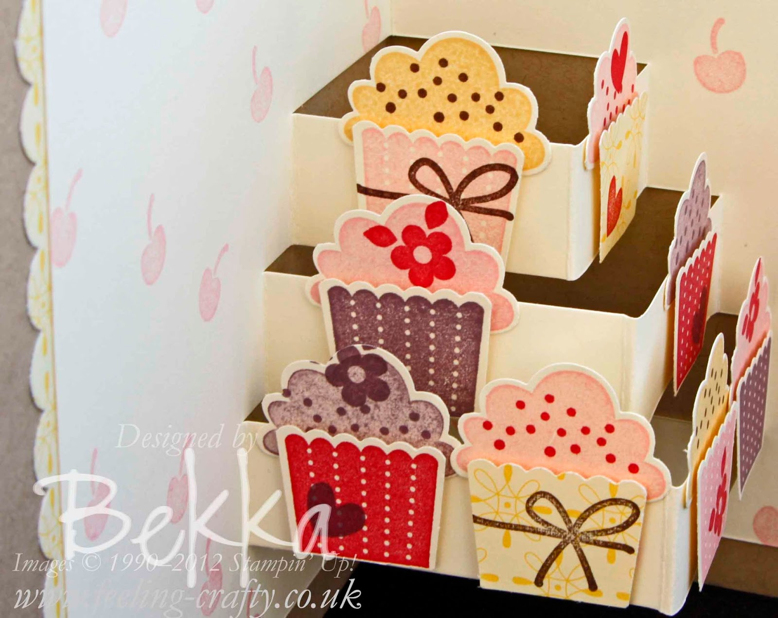 Create a Cupcake card by Stampin' Up! UK Independent Demonstrator Bekka - check out her classes - they look great!