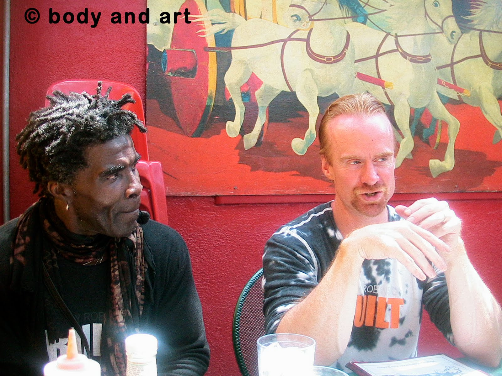 Robby Robinson and David J.- lunch at famous Firehouse restauran
