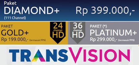 channel transvision hd paket terbaru