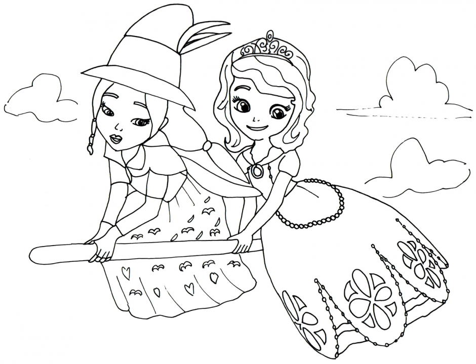 Kids Page: Disney Junior Sofia The First Princess 258966 Coloring Pages