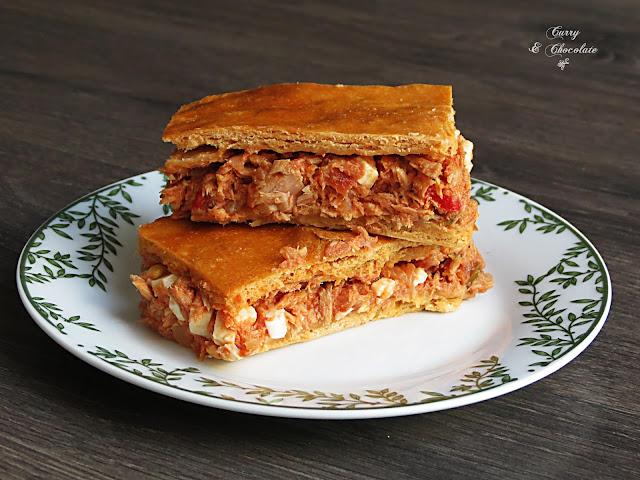 Empanada casera de atún – Tuna empanada pie