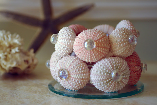 Seashell Decor - Urchin Candleholder from By the Seashore