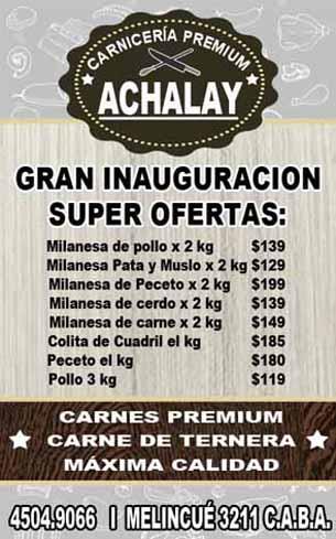 ACHALAY - Carnicería Premium