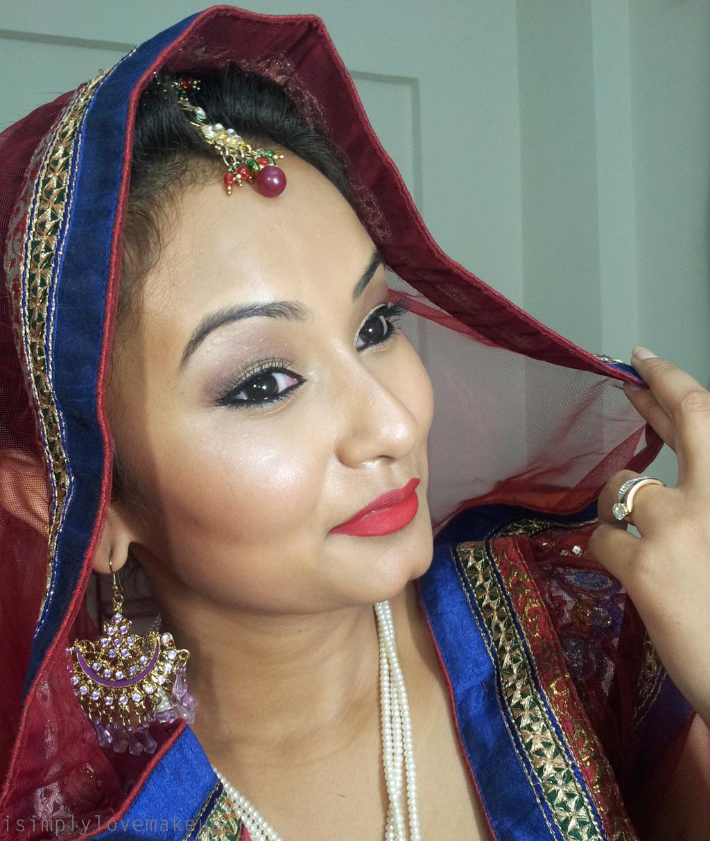 Bridal Beauty Makeup For An Indian Night Wedding