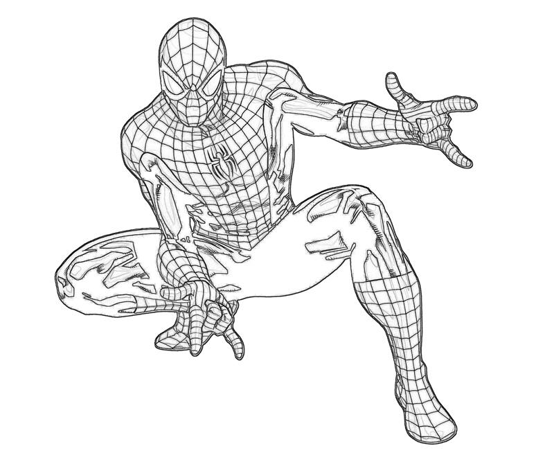 mini coloring pages spiderman - photo#23