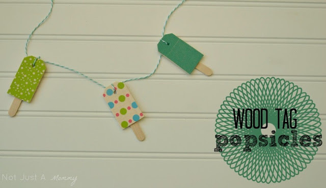 wood tag popsicle garland