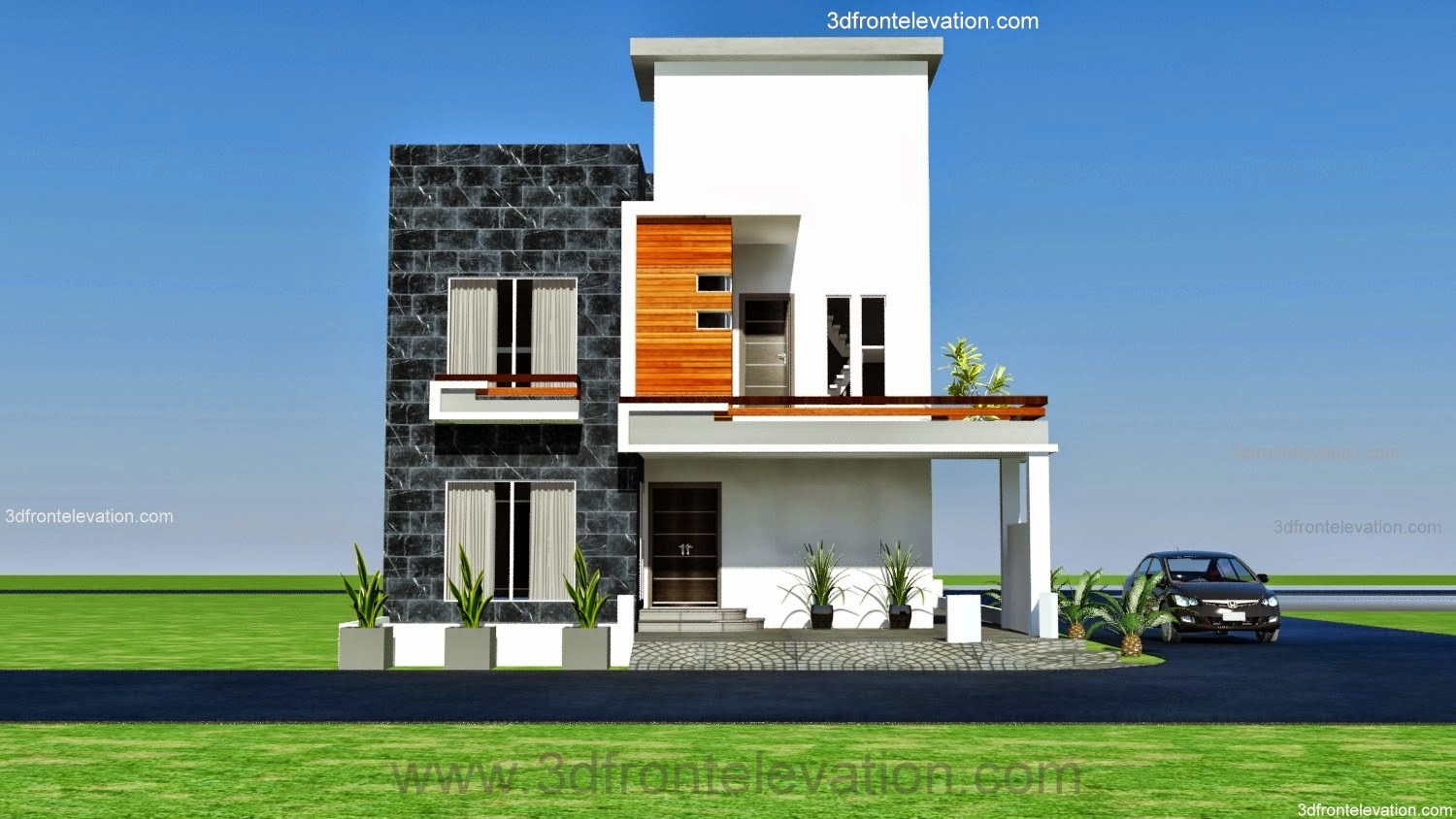 3d front 10 marla modern architecture for Design architecture house