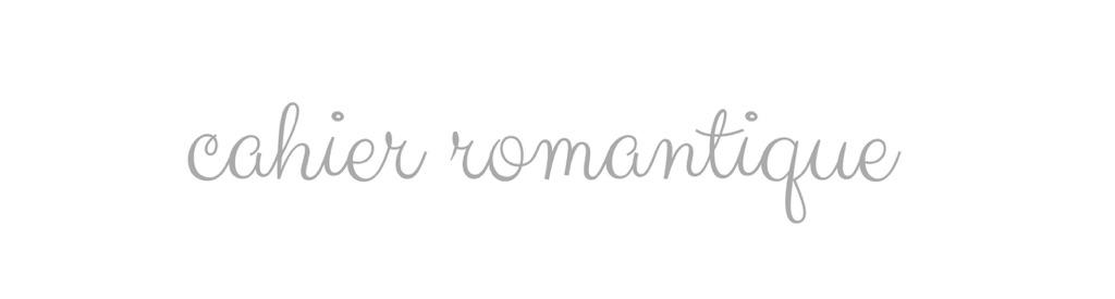 Cahier Romantique
