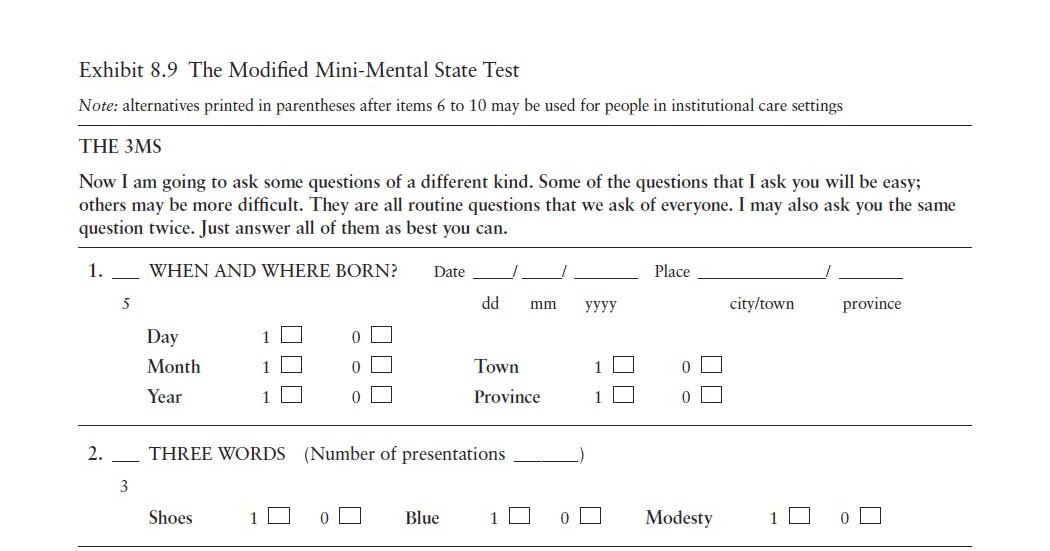 CriAnciCes: Modified Mini-Mental State Test