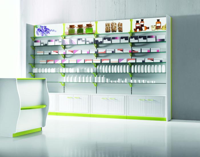 Degart arredo negozi arredamento farmacie parafarmacie for Arredo negozi salerno
