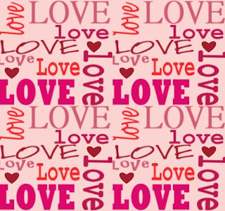 love word art pink