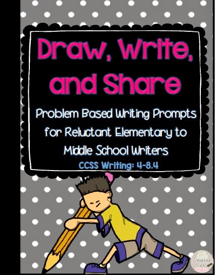 http://www.teacherspayteachers.com/Product/Draw-Write-and-Share-Problem-Based-Journal-Prompts-for-Reluctant-Writers-1579865