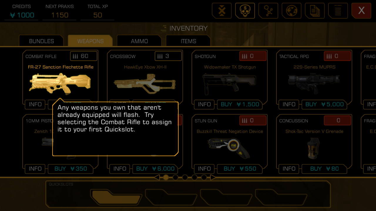 Deus Ex The Line Inventory