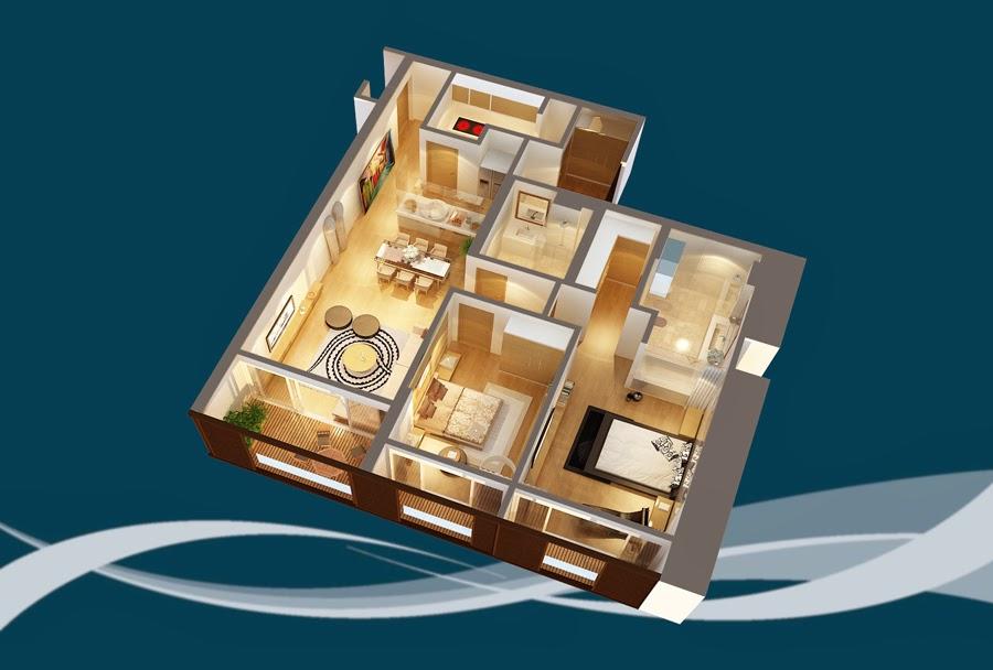 Thiết kế căn hộ CH7 - 138m2 Chung cư Dolphin Plaza