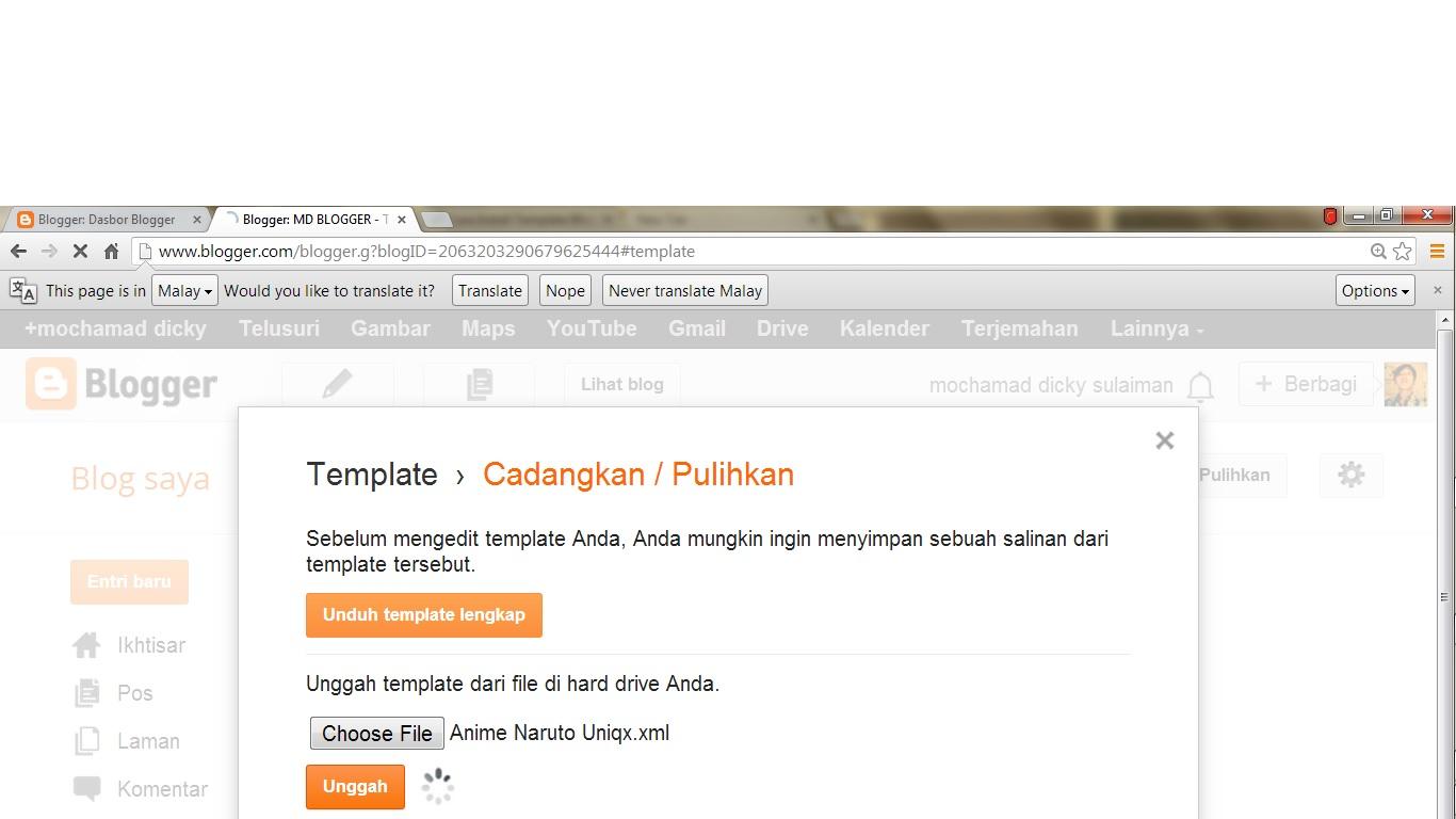 md blogger cara edit file xml template blogspot. Black Bedroom Furniture Sets. Home Design Ideas