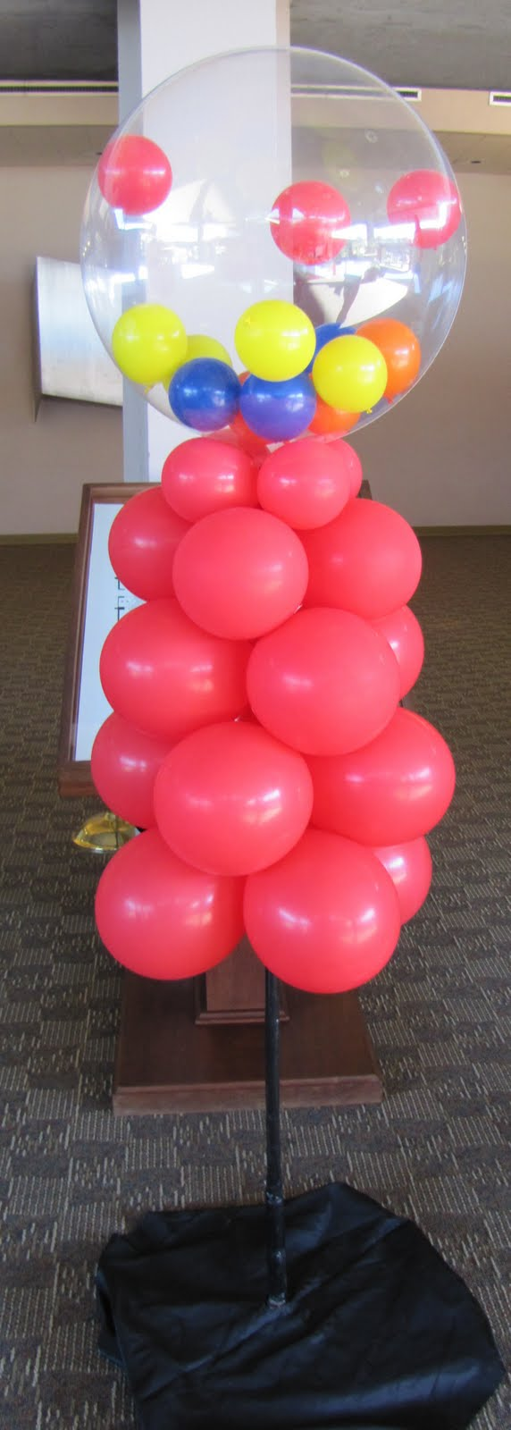 Party people event decorating company candy themed awards for Balloon decoration machine