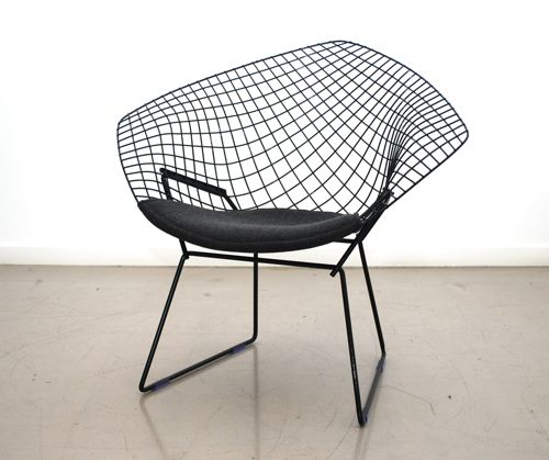 classic design restored knoll bertoia diamond chair. Black Bedroom Furniture Sets. Home Design Ideas