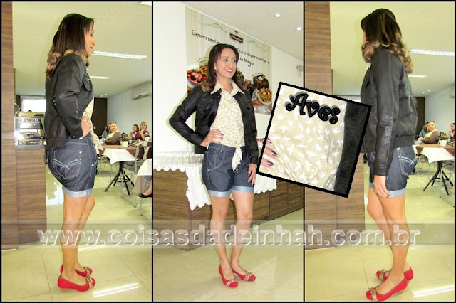 look moda outono inverno 2012 shorts boyfriend camisa com nozinho jaqueta couro