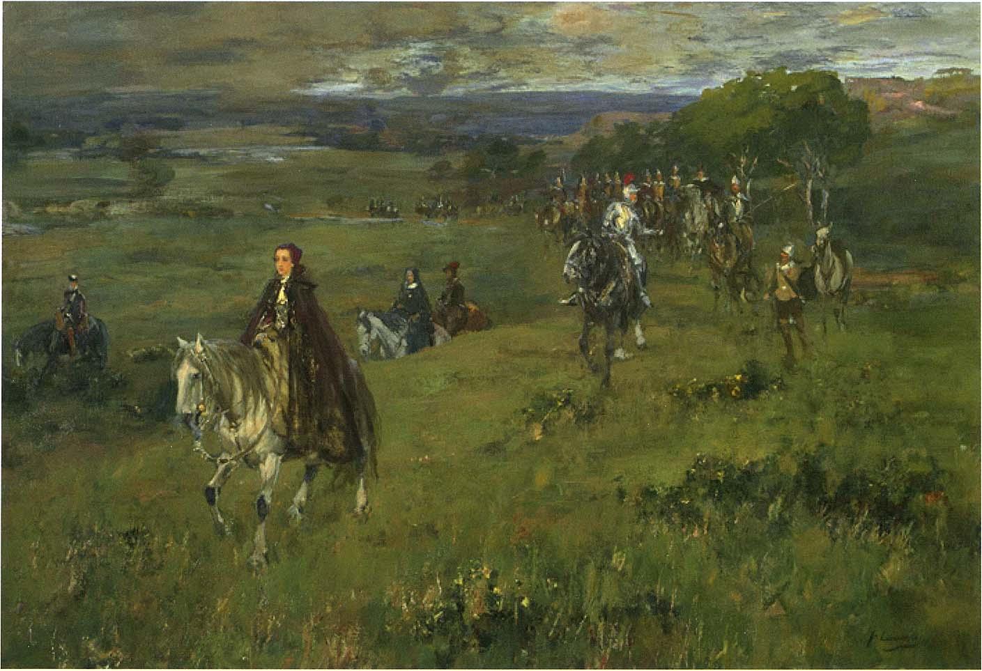 ŒUVRES CHRÉTIENNES DES FAMILLES ROYALES DE FRANCE - (Images et Musique)- année 1870  NightAfterBattleOfLangside